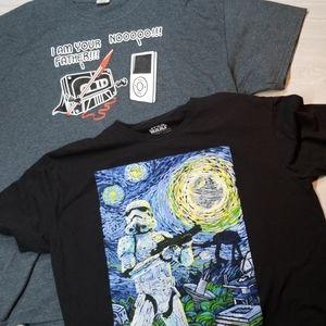2 Men's Star Wars Shirts